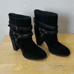 Ugg black wide heel boots